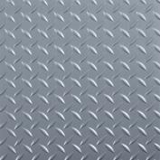 G-Floor RaceDay Peel and Stick Tile with PSA, Diamond Tread, 30cm x 30cm , Slate Grey, 20pc