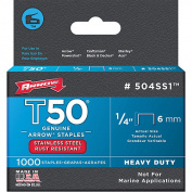 Arrow Fastener Co. 504SS3.2cm T50 Stainless Steel Staples
