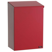 Allux 100 Top Loading Wall Mount Mailbox in Red