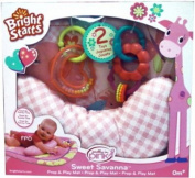 Bright Starts Sweet Savanna Prop and Play Playmat - Pink.