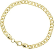 9ct Gold Plated Silver Men's Curb Bracelet.