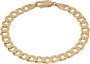 9ct Gold Men's Solid ⅓oz Curb Bracelet.