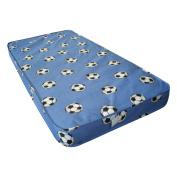 Blue Football Single Mattress