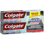 Colgate Max Clean SmartFoam Spearmint Blast Toothpaste, 180ml, 2 count