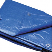 Outdoor Shopping TRA1212 3.7m x 3.7m Blue Poly Tarp