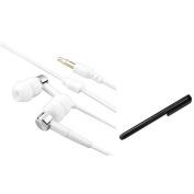 INSTEN Earbud Headset Earphone For Amazon Kindle Fire 3 Keyboard 4 & Touch+Black Stylus