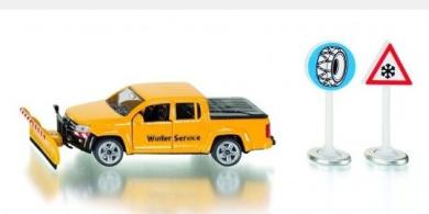 VW Amarok Winter Service Pick Up w 2 Road Signs