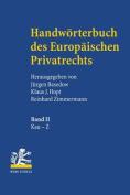 Handworterbuch Des Europaischen Privatrechts: Band I