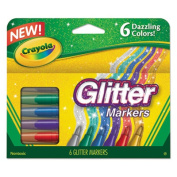 Crayola Glitter Markers Assorted 6 Pack