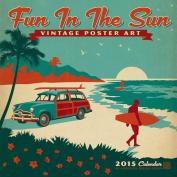 Fun in the Sun Vintage Poster Art Calendar