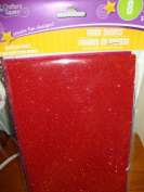 Crafter's Square - Glitter Foam Sheets - 8 Assorted Colours