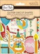 Grace Taylor Glitter Diecut Shapes-Party Time