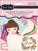 Grant Studios GT1590 Grace Taylor Pockets and Journal Tags with Glitter-Bubblegum Girl