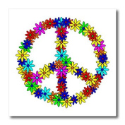 Janna Salak Designs Prints and Patterns - Peace Sign Flower Power Design - Iron on Heat Transfers