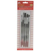 5 Pc Hobby & Craft Brushes