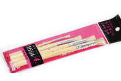 4 Pcs Pig Hair Stencil Painting Brushes From Daiso Japan
