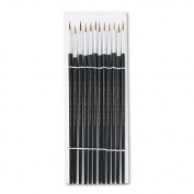 NEW - Artist Brush, Size 2, Camel Hair, Round, 12/Pack - 73502