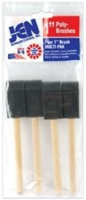 Bulk Buy: JEN Manufacturing Poly Sponge Brush Set 2.5cm Wide 4/Pkg 001 (6-Pack)
