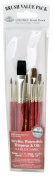 Royal Brush Manufacturing Royal and Langnickel Zip N' Close 10-Piece Brush Set, Sable and Camel