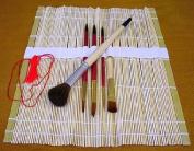Bamboo Roll Up Watercolour Brush Set