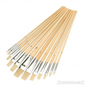 Silverline - Flat Tipped Brush Set 12Pce (12Pce