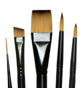 Majestic Royal and Langnickel Short Handle Paint Brush Set, Deluxe Watercolour, 5-Piece