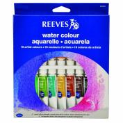 Reeves Watercolour Paint 10ml 18/Pkg-Assorted Colours