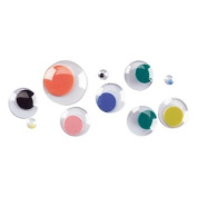 PAC1859867 - Wiggly Eyes, Round, Assorted Sizes, 100/PK, Assorted Colours