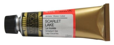 Mission Gold Water Colour, 15ml, Scarlet Lake