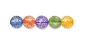 Czech Glass Druk Round Beads 8mm Crackle Rainbow Mix