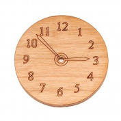 Cherry Wood Laser Cut Steampunk Clock Face Pendant Bead Component 2.5cm