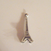 Eiffel Tower Charm Antiqued Silver Plated 3-D