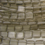 Czechmate 6mm Square Glass Czech Two Hole Tile Bead - Black Diamond