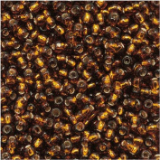 Toho Round Seed Beads 11/0 #34 'Silver Lined Smoky Topaz' 8 Gramme Tube