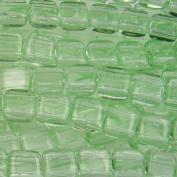 Czechmate 6mm Square Glass Czech Two Hole Tile Bead - Peridot