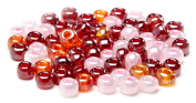 Beaders Paradise LT6EMIX126 Czech Glass Ruby Pearl Mix 6/0 E-Beads in a Tube