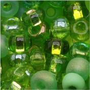 Czech Seed Beads 6/0 'Lime Green' Mix Peridot