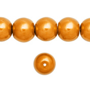 1 Strand Gold Glass Pearl Spacer Round Loose Beads Fit Necklace Bracelets Wholesale 8x8x8mm 110pcs GP0003-26