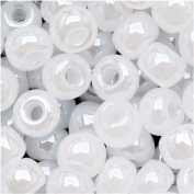 Czech Seed Beads Size 6/0 White Pearl