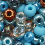Czech Seed Beads 6/0 'Blue Turquoise Grotto' Mix