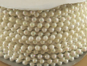 4mm Faux Pearl Plastic Beads on a String Craft Roll Irridescent White