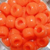 Pony Beads, Opaque Orange, 480pc Pkg