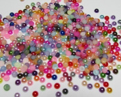 1000pcs Multi Colour Flatback Pearl 4mm--- By Pixiheart