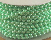 4mm Faux Pearl Plastic Beads on a String Craft Roll Mint Green