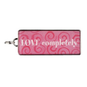 """Rectangle Word Charm - """"LOVE completely"""""""