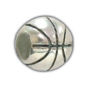 European Style Basketball Charm Bead. Compatible With Troll, Biagi, Zable, Chamilia Charm Bracelets.