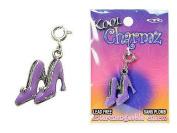 Koolcharmz Purple Pair of Shoes Dangling Charm
