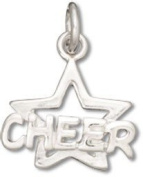 Sterling Silver Cheer with Star Charm with Split Ring #53084