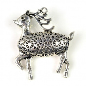 Cute Sika Deer Silver Alloy Pendant for Diy Pt-554