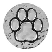 Ginger Snaps HAMMERED PAW PRINT SN20-01 Interchangeable Jewellery Snap Accessory